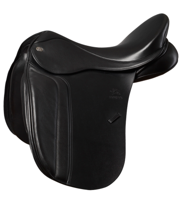 Fairfax Classic Open Seat Dressage Saddle 3-4 Angle